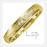 Snubní prsteny LSP 2970 žluté zlato
