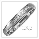 Snubní prsteny LSP 2970b bílé zlato