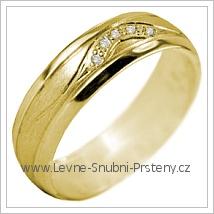 Snubní prsteny LSP 2973 žluté zlato