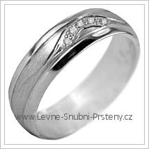 Snubní prsteny LSP 2973b bílé zlato