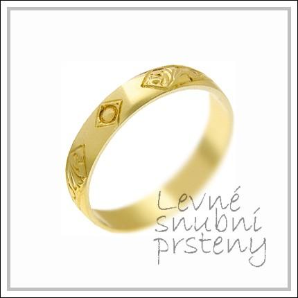 Snubní prsteny LSP 2985 žluté zlato