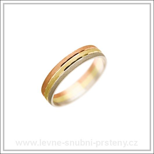 Snubní prsteny LSP 2991 kombinované zlato