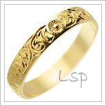 Snubní prsteny LSP 3002 žluté zlato