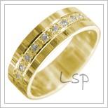 Snubní prsteny LSP 3005 žluté zlato
