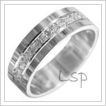 Snubní prsteny LSP 3005b bílé zlato