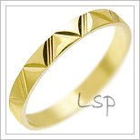 Snubní prsteny LSP 3008 žluté zlato