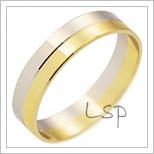 Snubní prsteny LSP 3013 kombinované zlato