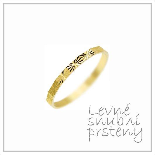 Snubní prsteny LSP 3019 žluté zlato
