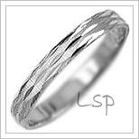 Snubní prsteny LSP 3025b bílé zlato