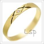 Snubní prsteny LSP 3028 žluté zlato