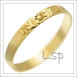 Snubní prsteny LSP 3038 žluté zlato