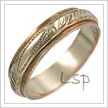 Snubní prsteny LSP 3039 kombinované zlato