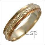 Snubní prsteny LSP 3042 kombinované zlato