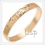Snubní prsteny LSP 3047 červené zlato