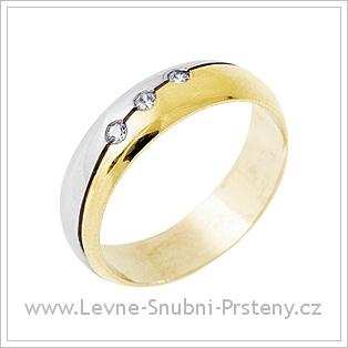 Snubní prsteny LSP 3048 kombinované zlato
