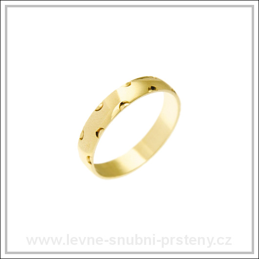 Snubní prsteny LSP 3051 žluté zlato