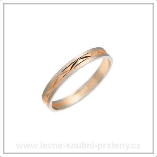 Snubní prsteny LSP 3054 kombinované zlato