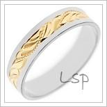 Snubní prsteny LSP 3056 z vícebarevného zlata