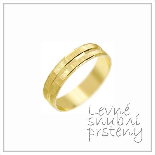 Snubní prsteny LSP 3057 žluté zlato