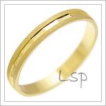 Snubní prsteny LSP 3065 žluté zlato
