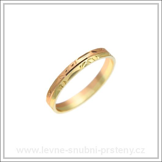 Snubní prsteny LSP 3069 kombinované zlato