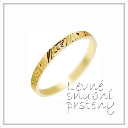 Snubní prsteny LSP 3074 žluté zlato