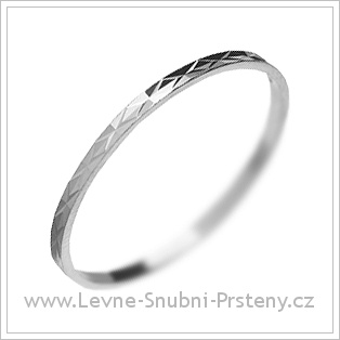 Snubní prsteny LSP 3079 bílé zlato