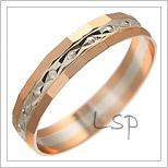Snubní prsteny LSP 3084 kombinované zlato