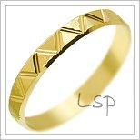 Snubní prsteny LSP 3090 žluté zlato