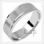 Snubní prsteny LSP 3092b bílé zlato