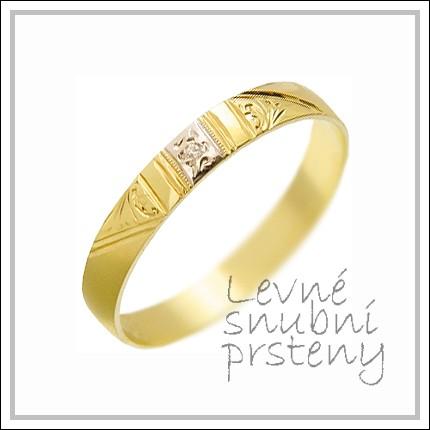 Snubní prsteny LSP 3096 žluté zlato