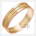 Snubní prsteny LSP 3101 kombinované zlato