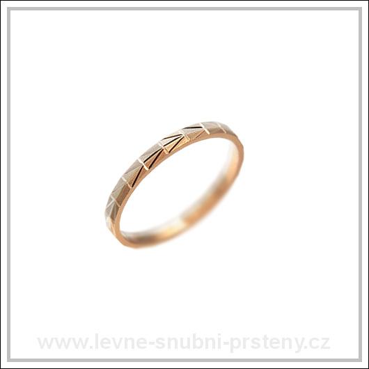 Snubní prsteny LSP 3106 kombinované zlato
