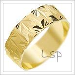 Snubní prsteny LSP 3111 žluté zlato