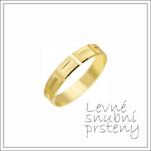 Snubní prsteny LSP 3116 žluté zlato