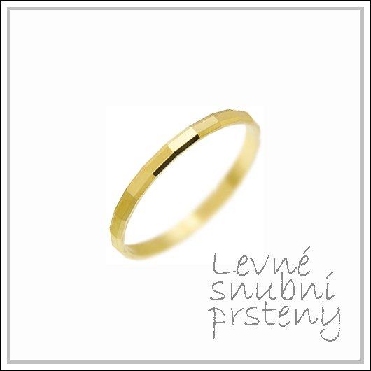 Snubní prsteny LSP 3122 žluté zlato