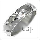 Snubní prsteny LSP 3126b bílé zlato