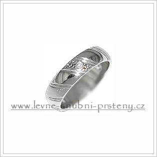 Snubní prsteny LSP 3126bz bílé zlato