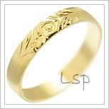 Snubní prsteny LSP 3127 žluté zlato