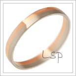 Snubní prsteny LSP 3132 kombinované zlato