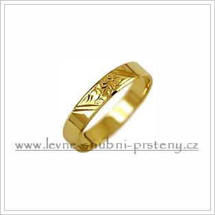 Snubní prsteny LSP 3134 žluté zlato
