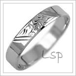 Snubní prsteny LSP 3134b bílé zlato
