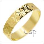 Snubní prsteny LSP 3138 žluté zlato