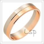 Snubní prsteny LSP 3142 kombinované zlato