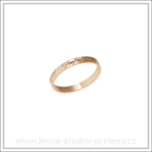 Snubní prsteny LSP 3150 kombinované zlato