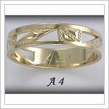 Snubní prsteny LSP A4 žluté zlato