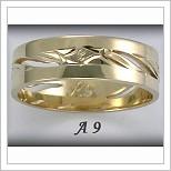 Snubní prsteny LSP A9 žluté zlato