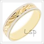 Snubní prsteny LSP B16 z vícebarevného zlata